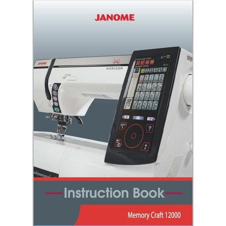 Instruction Manual, Janome MC12000