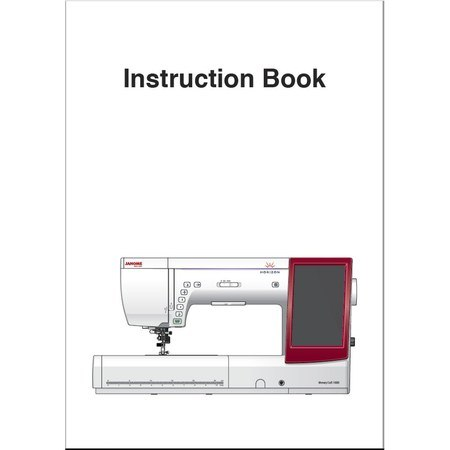 Instruction Manual, Janome MC14000