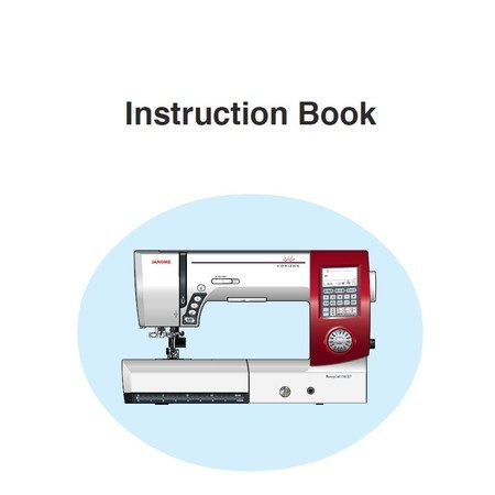 Instruction Manual, Janome MC7700QCP