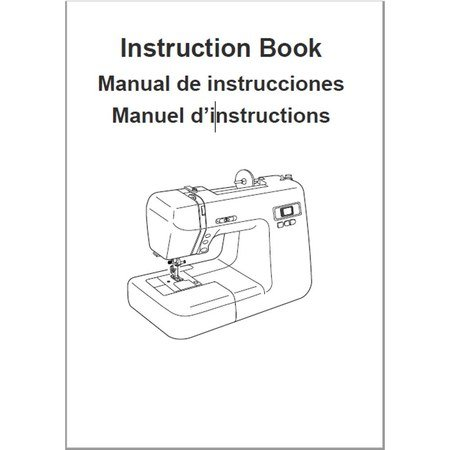 Instruction Manual, Janome NPCF-50
