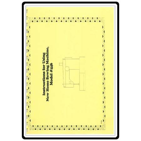 Instruction Manual, Janome and Newhome 446