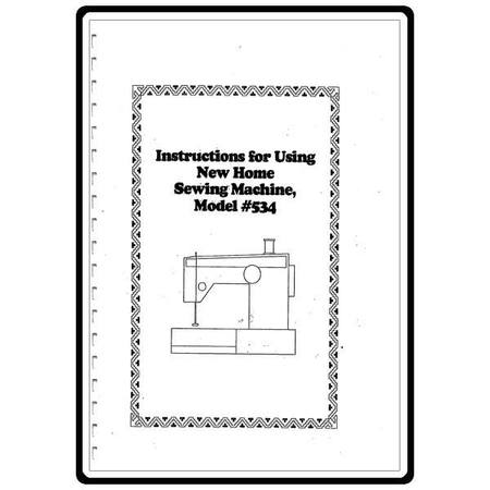 Instruction Manual, Janome (Newhome) 534