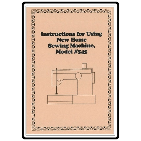 Instruction Manual, Janome 545