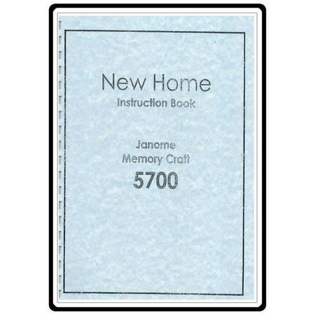 Instruction Manual, Janome MC5700