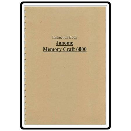 Instruction Manual, Janome 6000