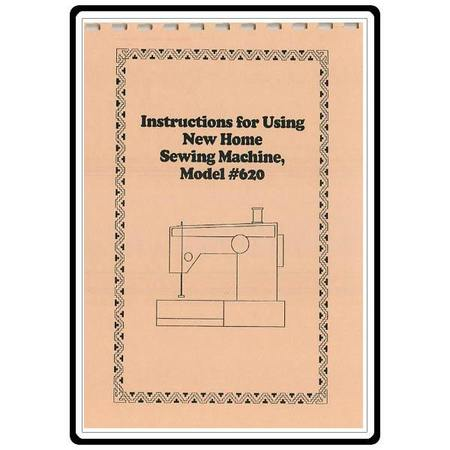 Instruction Manual, Janome (Newhome) 620