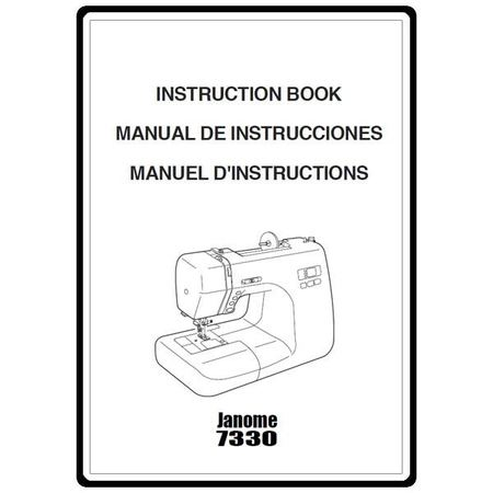 Instruction Manual, Janome 7330