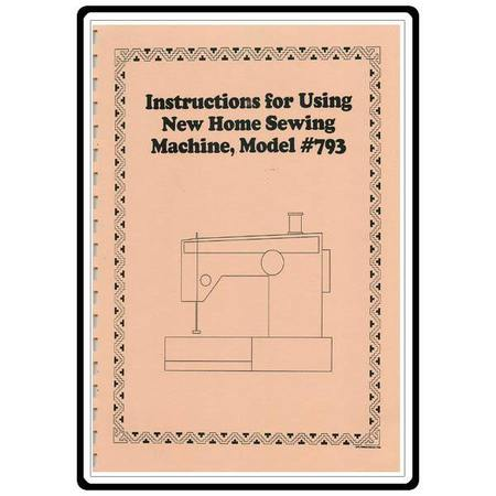 Instruction Manual, Janome 793