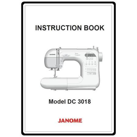Instruction Manual, Janome DC3018