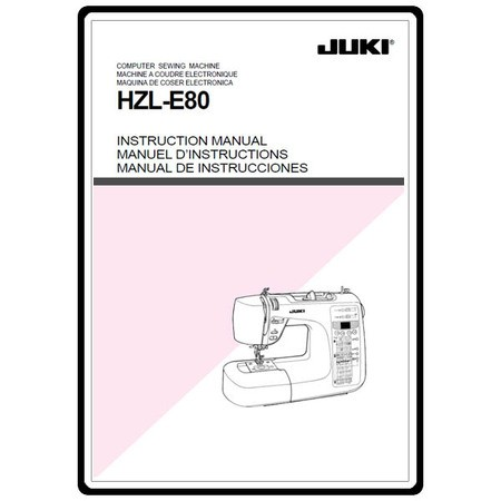 Instruction Manual, Juki HZL-E80