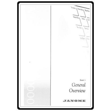 Instruction Manual, Janome MC10000