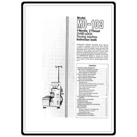Instruction Manual, Juki MO-103
