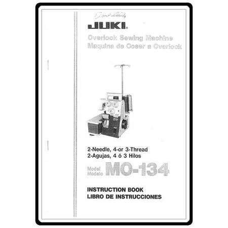 Instruction Manual, Juki MO-134