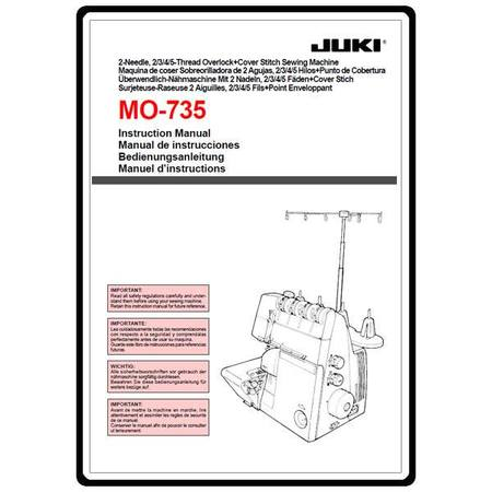 Instruction Manual, Juki MO-735