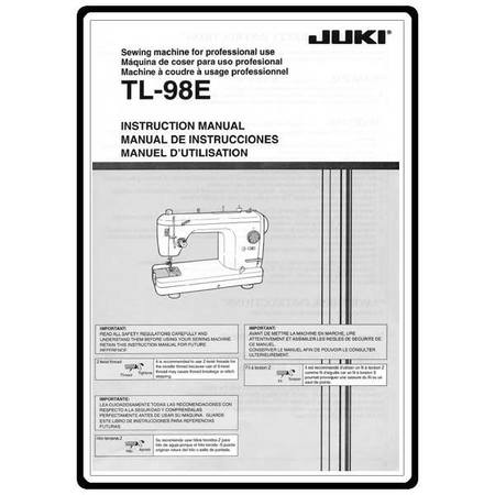 Instruction Manual, Juki TL-98E