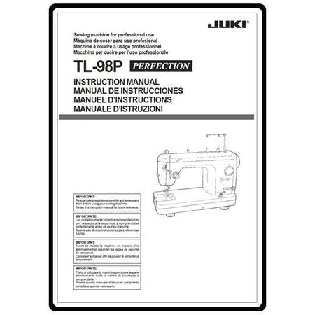 Instruction Manual, Juki TL-98P