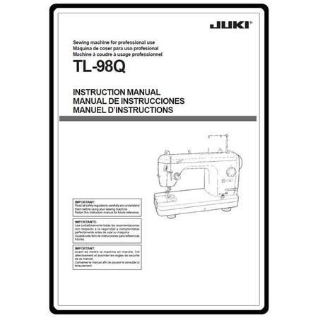 Instruction Manual, Juki TL-98Q