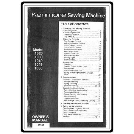 Instruction Manual, Kenmore 158.10301