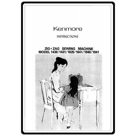 Instruction Manual, Kenmore 158.19410 Models