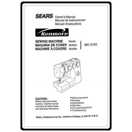 Instruction Manual, Kenmore 385.12102 Models