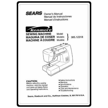 Instruction Manual, Kenmore 385.12318 Models