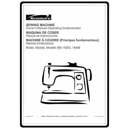 Instruction Manual Kenmore 4040 Models Sewing Parts Online Beauteous Sears Sewing Machine Parts
