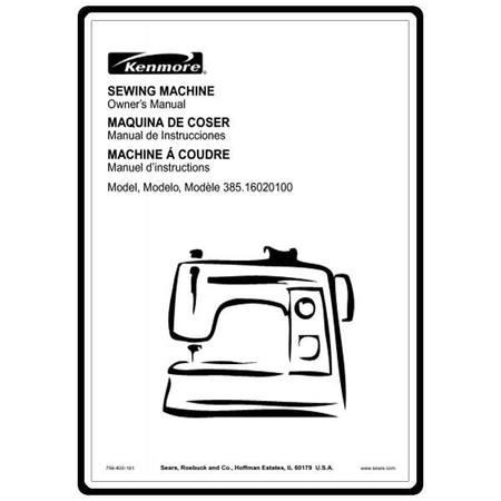 Instruction Manual, Kenmore 385.16020100