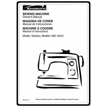 Instruction Manual, Kenmore 385.16231300 Models