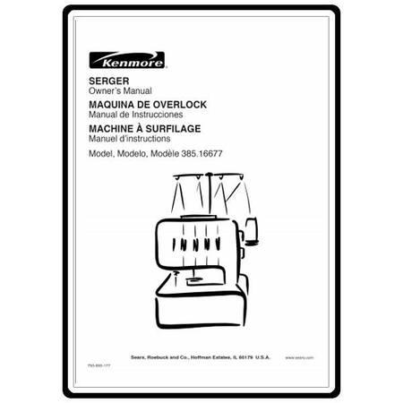 Instruction Manual, Kenmore 385.16677 Models