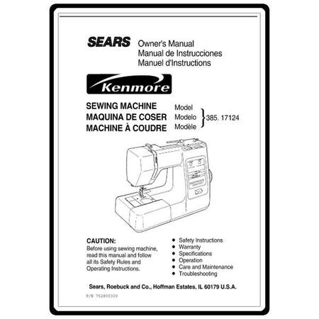 Instruction Manual, Kenmore 385.17124 Models