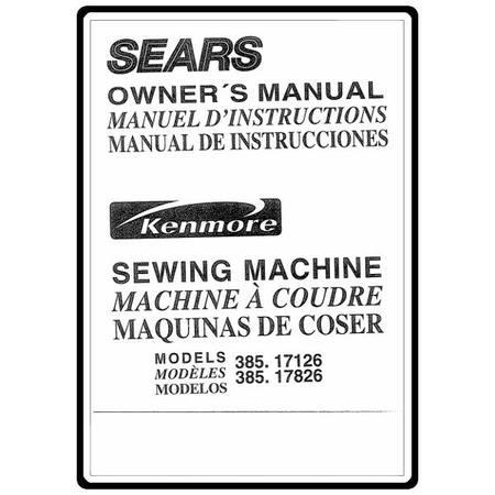 Instruction Manual, Kenmore 385.17126 Models