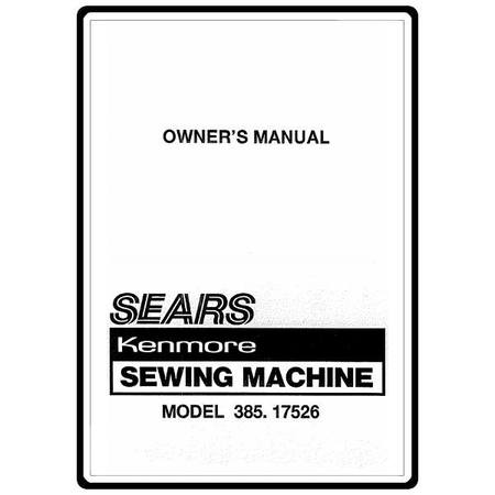 Instruction Manual, Kenmore 385.17526 Models