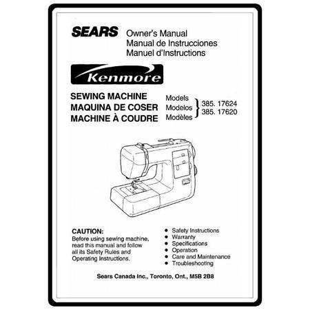 Instruction Manual, Kenmore 385.17624 Models