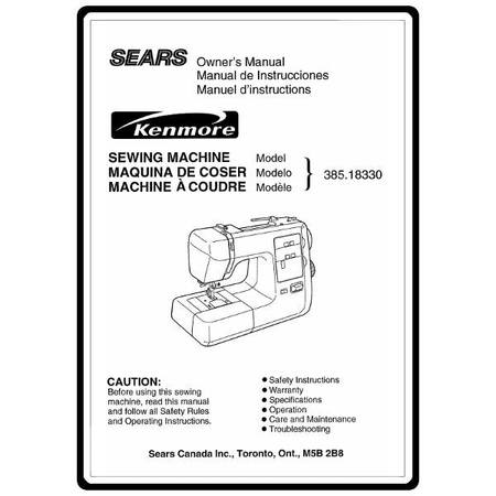 Instruction manual kenmore 38518330 models sewing parts online solutioingenieria Image collections