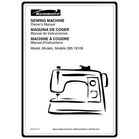 Instruction Manual, Kenmore 385.19106 Models