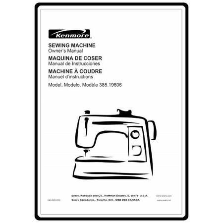 Instruction Manual, Kenmore 385.19606400
