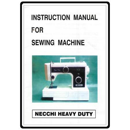 Instruction Manual, Necchi 3205FA