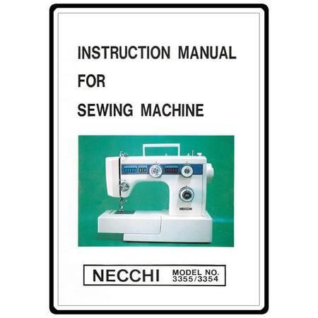 Instruction Manual, Necchi 3354