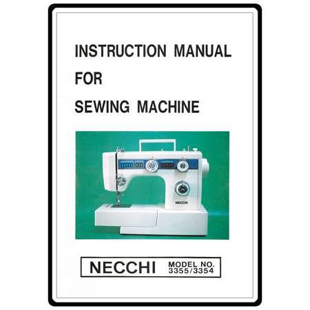 Instruction Manual, Necchi 3355