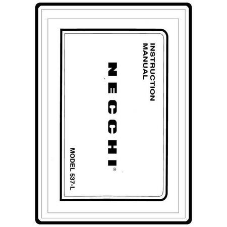 Instruction Manual, Necchi 537-L