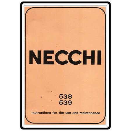 Instruction Manual, Necchi 538