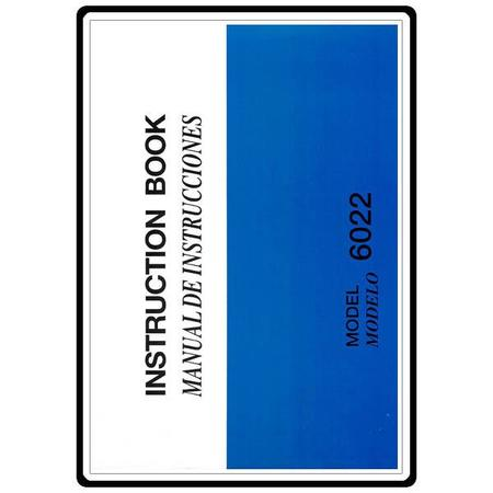 Instruction Manual, Necchi 6022