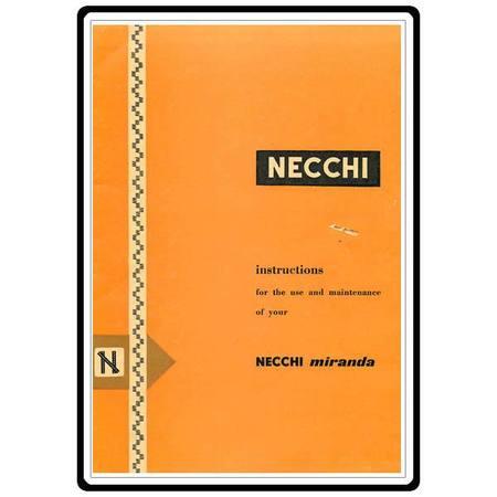 Instruction Manual, Necchi Miranda
