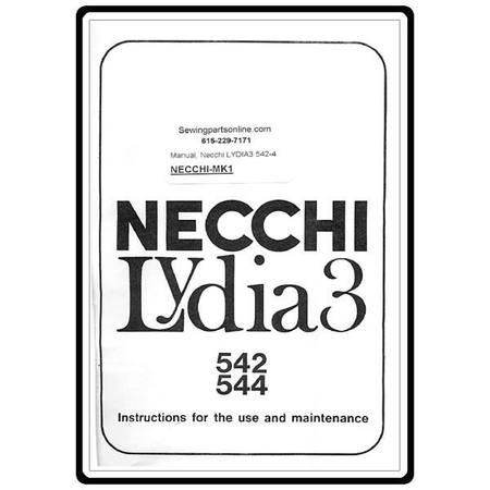 Instruction Manual, Necchi MK1