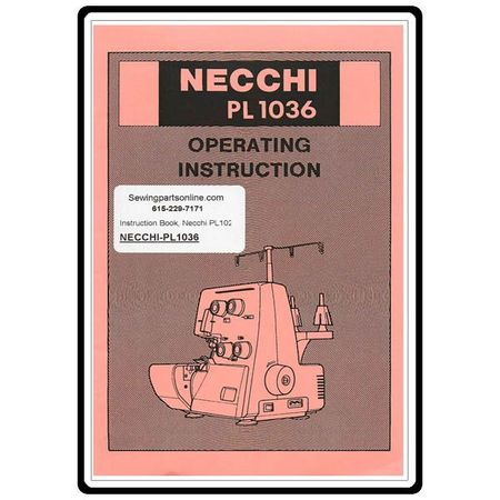 Instruction Manual, Necchi PL1020 Serger