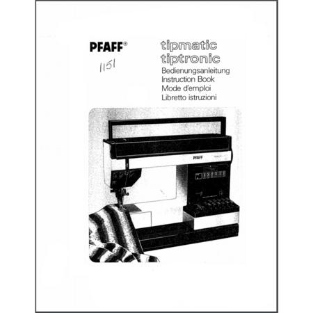 Instruction Manual, Pfaff 1151