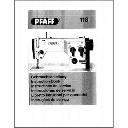 Instruction Manual, Pfaff 118
