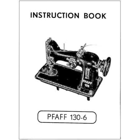 Instruction Manual, Pfaff 130-6