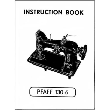 Instruction Manual, Pfaff 130-6