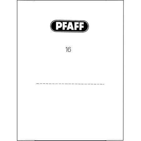 Instruction Manual, Pfaff 16